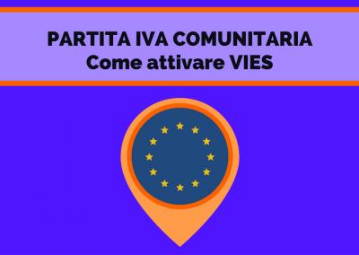 PARTITA IVA COMUNITARIA – Come attivare il VIES